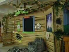 The inside of the clubhouse God's Backyard VBS
