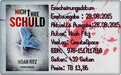 """Leserattes Bücherwelt: [Karl`s Rezension] """"Nicht ihre Schuld"""" Noah Fitz"""