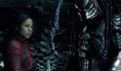 "Alexa ""Lex"" Woods (Sanaa Lathan) forms an alliance with the Scar Predator in ""Alien vs. Predator."""
