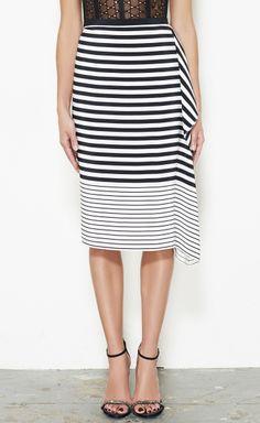 Tibi Black And White Skirt | VAUNTE