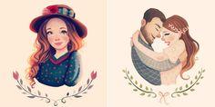 Daqui Dali» Arquivo do Blog » Ilustradora brasileira cria personagens cheios de ternura no Instagram