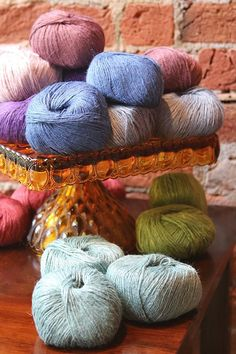 One of our favorite warm weather yarns, Firefly, is back in the shop! It's a linen blend with 20 colors to choose from for only $10 a skein.