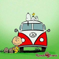 'Day Trippin' In a VW Bus', Charlie Brown, Snoopy, & Woodstock take a Road Trip in the Groovy 60's.