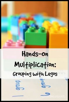 Learn the foundation of multiplication-- grouping-- using legos. Great hands on math activity!