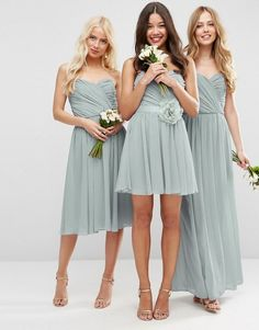 Buy ASOS DESIGN chiffon bandeau mini dress with detachable corsage at ASOS. With free delivery and return options (Ts&Cs apply), online shopping has never been so easy. Get the latest trends with ASOS now. Asos Wedding, Bridesmaid Dresses, Wedding Dresses, Corsage, Fashion Online, Latest Trends, Chiffon, Shopping, Bridesmade Dresses