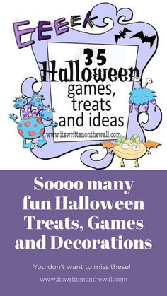 35 Fun Halloween Games, Treats and Ideas for your Halloween Party Halloween Candy Bar, Halloween Treat Boxes, Halloween Gifts, Fun Halloween Activities, Halloween Party Games, Party Treats, Party Favors, Hershey Bar, Game Prizes