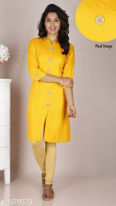 Kurtis & Kurtas Women's Solid Rayon Kurti  *Fabric* Rayon  *Sleeves* 3/4 Sleeves Are Included  *Size* M - 38 in, L - 40 in, XL - 42 in, XXL - 44 in  *Length* Up to 42 in  *Type* Stitched  *Description* It Has 1 Piece Of Kurti  *Pattern* Solid It Has 1 Piece Of  free mask  *Sizes Available* M, L, XL, XXL *    Catalog Name: Women'S Solid Rayon Kurtis CatalogID_132345 C74-SC1001 Code: 833-1079573-