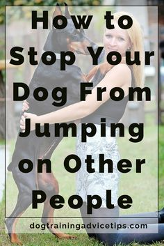 How to Stop Your Dog From Jumping on Other People | Dog Training Tips | Dog Obedience Training | Dog Training Ideas | http://www.dogtrainingadvicetips.com/stop-dog-jumping-people
