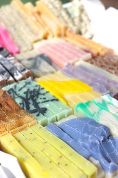 Cute and colorful soap sample packs