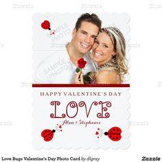 Love Bugs Valentine's Day Photo Card