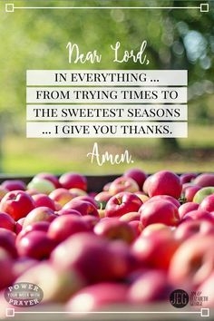 """When I thank You, God, even for the hard things in life, I'm saying, """"Lord, I am confident You will use this for my good. Amen.""""  """"Give thanks in all circumstances."""" (1 Thess. 5:18)"""