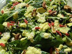 Delicious green avocado goji berries salad