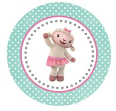 Lambie Large Tag or Cupcake Topper (free Printable)