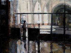 Union Station, Los Angeles, by Suzanne DeCuir, oil 18 x 24 inches