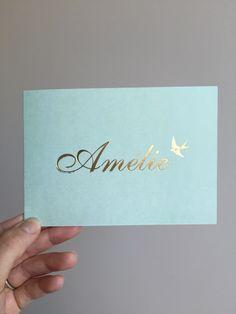 Geboortekaartje Amélie met foliedruk