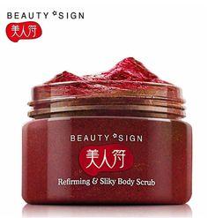 Marca de la buena calidad de Fresa scrub Exfoliante Corporal Exfoliante de la piel y blanqueamiento mejorar poros gruesos tonos irregulares cuidado del cuerpo 120g