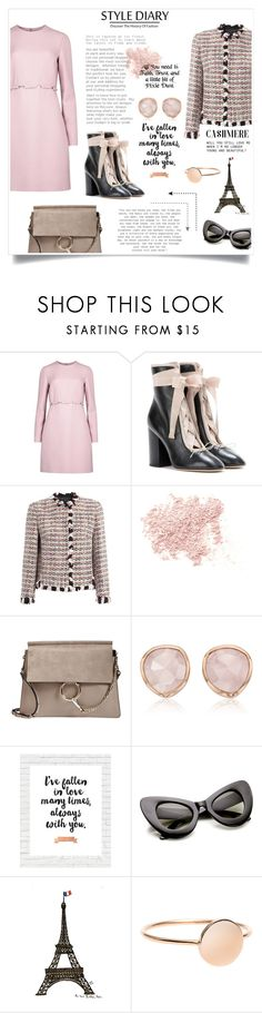 """lady"" by reginabarnes ❤ liked on Polyvore featuring Valentino, Giambattista Valli, Bare Escentuals, Chloé, Monica Vinader, WALL and Disney"