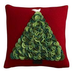 Tutorial for felt Christmas Tree pillow
