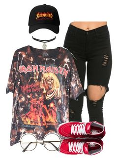 """""""She wants to give it"""" by queen-tiller ❤ liked on Polyvore featuring Vans and ZeroUV"""
