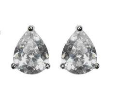 Kanisha Pear CZ Stud Earrings - 5mm | 0.25ct