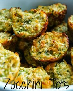 Easy and Healthy Zucchini Tots are the perfect way to use your large bounty of garden zucchini! This is the best easy and healthy zucchini side dish recipe! Ww Recipes, Vegetable Recipes, Vegetarian Recipes, Cooking Recipes, Healthy Recipes, Recipies, Cooking Videos, Popular Recipes, Delicious Recipes