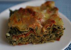 Lasagnes très vertes épinards ricotta
