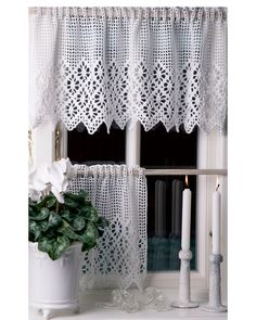 Kitchen Curtains, Valance Curtains, Projects To Try, Inspiration, Home Decor, Outdoors, Crochet Curtains, Ornaments, Rugs