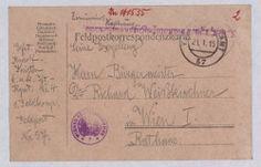 Feldpostkorrespondenzkarte von Rudolf Kristen an Richard Weiskirchner, 21.01.1915. WBR, HS, H.I.N. 141535-2, Adressierung Sheet Music, Poster, Bullet Journal, Objects, Music Sheets, Billboard
