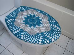 Crochet Toilet Seat Cover Or Toilet Tank Lid Cover Taupe Heather - Light grey toilet seat