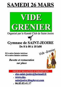 affiche Vide grenier du Karaté Club