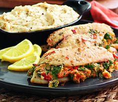 Michael Angelo's® Stuffed Tilapia and Tone's® Rosemary Garlic-seasoned mashed potatoes.  #spon http://www.samsclub.com/sams/seafood/1522.cp?