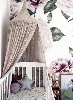 Learn how a feature wall can transform nursery spaces! This stunning girl's nursery by Clever Poppy shows us that you needn't shy away from impactful walls for your little one. Loving the fairytale woodlands vibe, so unique!