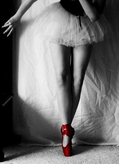 ❤red ballet shoes