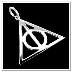 Pingente Em Prata 925 - Inspirado em Harry Potter Relíquias da Morte - 1018