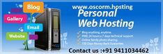 Oscorm is the best company in India that provides the hosting services for world wide. We provide the 24X7 services for our clients.....  Linux Hosting Windows Hosting Hosting Security 24 x 7 Servers Monitoring To Know about more details please visit and Contact us http://www.oscorm.hosting/ +91 9411034462