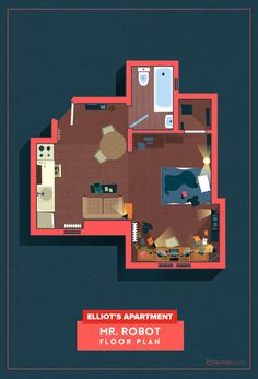 The floor plans of your favourite TV shows