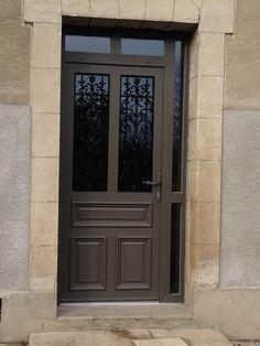 Porte d'entrée PVC/ALUMINIUM PROFEL composition sur mesure avec reprise des grilles existantes