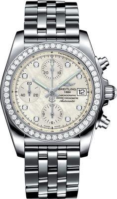 La Cote des Montres : La montre Breitling Chronomat 38 Sleekt - Les femmes aux commandes