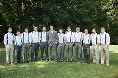 suspenders and mint ties | Caroline Joy #wedding