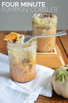 Four Minute Pumpkin Cobbler Mug Cake #ad