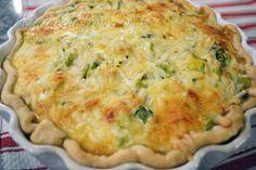mushroom asparagus quiche thepaintedapron.com