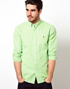 Polo Ralph Lauren Shirt in Slim Fit Oxford Stripe