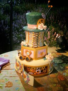on pinterest david tutera wonderland and steampunk wedding cake