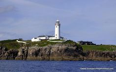 Fanad Lighthouse from the sea Donegal, Lighthouse, Statue Of Liberty, Tourism, How To Memorize Things, Journey, Places, Travel, Sea