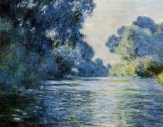 Arm of the Seine at Giverny  Monet
