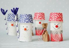 DIY Santa Claus and snowman from Klorolle tinker Source by Childrens Christmas Crafts, Winter Crafts For Kids, Christmas Activities, Diy For Kids, Winter Diy, Christmas Mood, Noel Christmas, Diy Christmas Ornaments, Toilet Paper Crafts