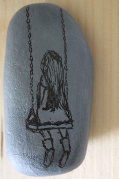 inkt op steen