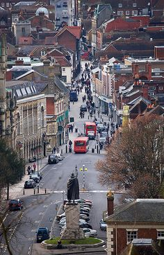 Winchester, Hampshire, UK -- and note the statue of King Alfred the Great (849-899) overlooking the town, see the BBC site:  http://www.bbc.co.uk/history/historic_figures/alfred_the_great.shtml