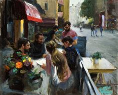 """Cloudy day in Linkoping"", oil on canvas, artist Vladimir Volegov"