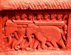 Temple terracotta elephant art